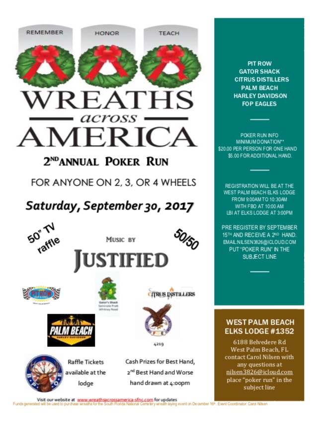 waa 2017 poker run flier